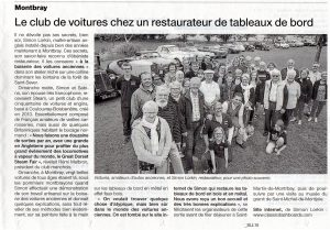 Article de presse - Club de passage STEAM rendre visite chez Classic Dashboards